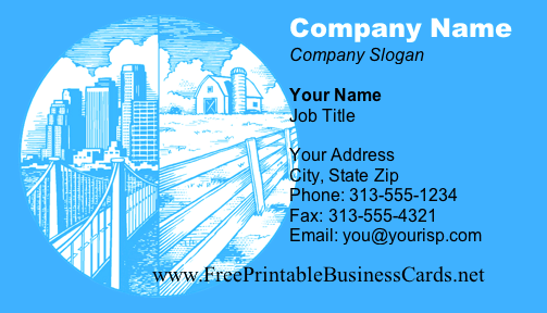 Town & Country business card