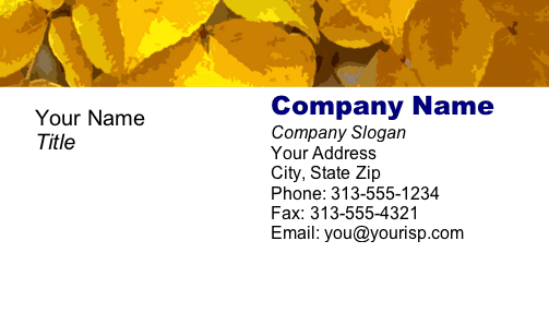 Yellow Leaves business card