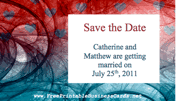 Abstract Save the Date Card