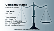 Advocate Business Card business card