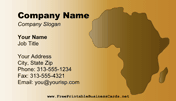 Africa Business Card business card