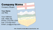 Flag of Alberta business card