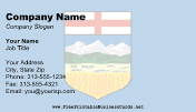 Alberta Flag business card