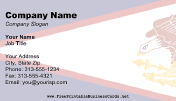 American Samoa Flag business card