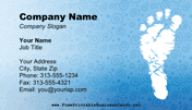 Baby Shower Business Card business card