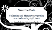 Black Save the Date Card