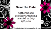 Black and White Save the Date Card