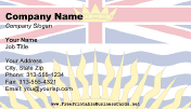British Columbia Flag business card
