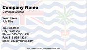 British Indian Ocean Territory business card