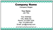 Business Card With Scalloped Border business card