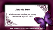Butterfly Save the Date Card