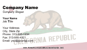 Flag of California business card