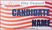 City Council Sign business card