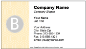 Colorful B Monogram business card