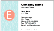 Colorful E Monogram Business Card business card