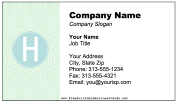 Colorful H Monogram business card