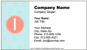 Colorful I Monogram business card
