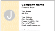 Colorful J Monogram business card