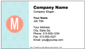 Colorful M Monogram Business Card business card