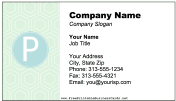 Colorful P Monogram business card