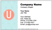 Colorful U Monogram Business Card business card