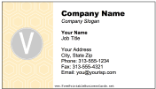Colorful V Monogram business card