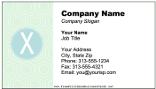 Colorful X Monogram Business Card business card