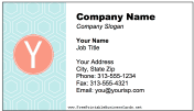 Colorful Y Monogram business card