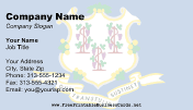 Connecticut Flag business card