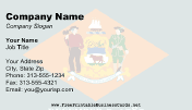 Delaware Flag business card