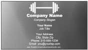 Fitness Business Card business card