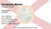Flag of Florida business card