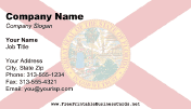 Florida Flag business card