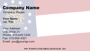 Flag of Georgia business card