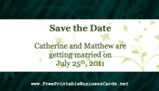 Green Save the Date Card