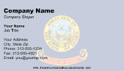 Idaho Flag business card