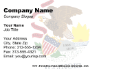 Flag of Illinois business card