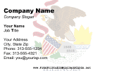 Illinois Flag business card