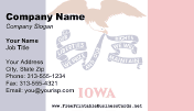 Iowa Flag business card