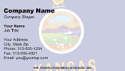 Flag of Kansas business card