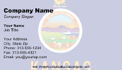 Kansas Flag business card