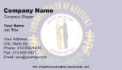 Flag of Kentucky business card