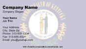 Kentucky Flag business card