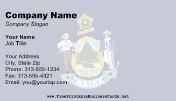 Flag of Maine business card