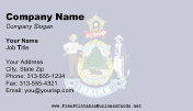 Maine Flag business card