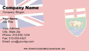 Flag of Manitoba business card