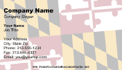 Flag of Maryland business card