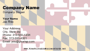 Maryland Flag business card