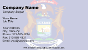Michigan Flag business card