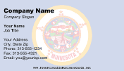 Flag of Minnesota business card